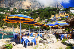 Capri Island, Italy, Europe. Capri Island - luxurious touristic destinationin Europe royalty free stock image