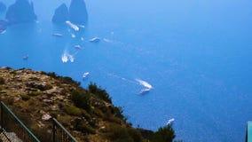 Capri island, Italy stock video footage