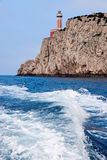 Capri Island Lighthouse Stock Photo