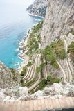 Winding roads of Via Krupp Capri royalty free stock photo
