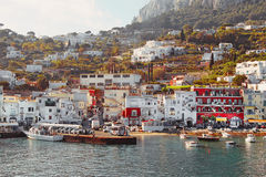 Capri Island - Marina grande harbor Stock Photo