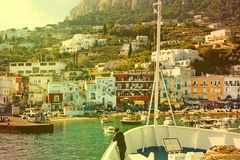 Capri Island - Marina grande harbor Stock Photo