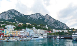 The town of Capri Stock Image