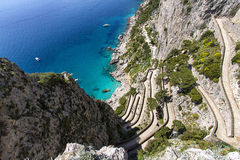Capri island, via Krupp Royalty Free Stock Photography