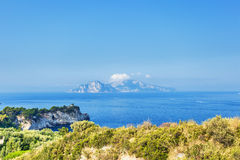Capri island view Royalty Free Stock Image