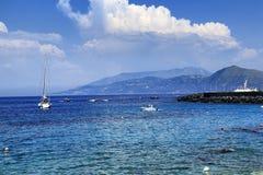 Capri island. The wonderful sea of Capri Stock Images