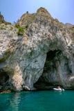 Capri Italien - blå grotta royaltyfria foton