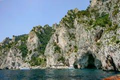 Capri Italien - den blåa grottan royaltyfri bild