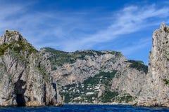 Capri Italien - Juni 10: Capri ö på Juni 10, 2016 i Capri, Arkivfoton