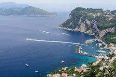 Capri Italien - Juni 10: Capri ö på Juni 10, 2016 i Capri, Fotografering för Bildbyråer