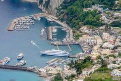 Capri Italien - Juni 10: Capri ö på Juni 10, 2016 i Capri, Royaltyfri Bild