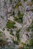 Capri Italien - Juni 10: Capri ö på Juni 10, 2016 i Capri, Royaltyfria Bilder