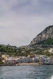 Capri Italien - Juni 11: Capri ö på Juni 11, 2016 i Capri, Fotografering för Bildbyråer