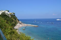 Capri, Italien 2014 Sea stockbilder
