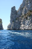 Capri Italy. Capri Island in Italy Europe / Crystal-clear water and enchanting rock Royalty Free Stock Images