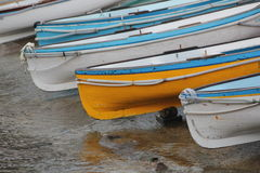 Capri Italy - boats. Fishing boats on beach i Capri Royalty Free Stock Photography