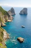 CAPRI, ITALY, EUROPE. Capri island, Italy, Faraglioni Cliffs Royalty Free Stock Photo