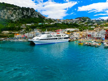 Capri, Italy - May 04, 2014: Marina Grande on the Island Stock Photography