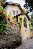 CAPRI, ITALY - SEPTEMBER 11, 2014:  Yellow house in beautiful st Stock Image