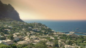 Capri Italy Townscape Late Afternoon stock video