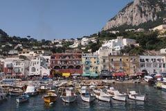 Capri-Jachthafen/-hafen Lizenzfreies Stockbild