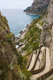 capri krupp μέσω της όψης Στοκ Φωτογραφία