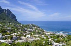 Capri-kust, Campania, Italië Royalty-vrije Stock Foto