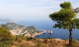 Capri landscape Royalty Free Stock Image