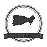 Capri map stamp. Stock Photography