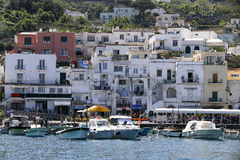 Capri marina italy Royalty Free Stock Images