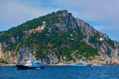 Capri miasteczko na Capri wyspie, Campania, Włochy Capri jest wyspą w Tyrrhenian morzu z Sorrentine półwysepa, dalej Zdjęcia Royalty Free