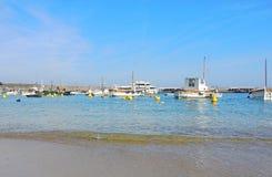 Capri, Napels, Italië De haven van het dorp Marina Grande royalty-vrije stock foto