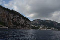 Capri, niebo, chmura, morze, wybrzeże obraz stock
