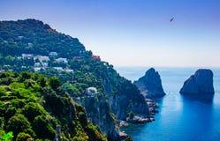 Capri och havet Royaltyfria Bilder