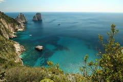Capri, opinião Itália do monte Imagens de Stock
