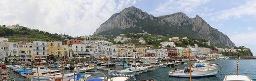 Capri port Arkivfoton