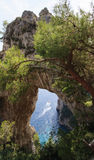 Capri Rock Arch Royalty Free Stock Photo