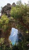 Capri Rock Arch Royalty Free Stock Photo