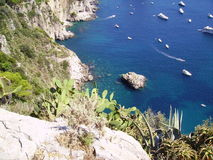 Capri's blue sea Stock Photo