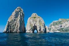 Capri's Faraglioni stacks Stock Photos