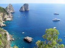Capri sea view Royalty Free Stock Image