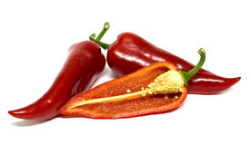 Capri sectional pepper on white background. Isolated Stock Photo