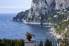 Capri. A shot from the top of Marina Piccola on the island of Capri Stock Photos
