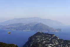 Capri and The Sorrentine Coast. The panorama from Monte Solaro Royalty Free Stock Photography