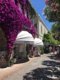 Capri. Streets with royalty free stock photo