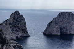 Capri. A suggestive view of the famous Faraglioni of Capri Stock Photos