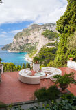 Capri terrace. A terrace in a luxury villa at Capri stock photos