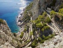 Capri, vía Krupp de jardines de Augustus foto de archivo