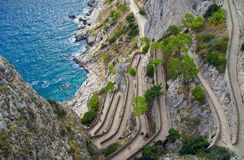 Capri, vía Krupp, Italia. imagen de archivo libre de regalías