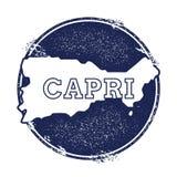 Capri vektoröversikt Arkivbilder